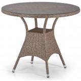Плетеный стол T197AT-W56-D90 Light Brown