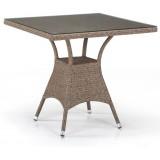 Плетеный стол T197BT-W56-80x80 Light brown