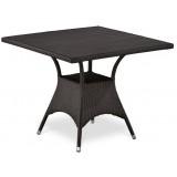 Плетеный стол T190BD-W52-90х90 Brown
