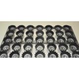 Сборка форм гофрированных для кексов, 20 мл, 61 шт, решетка 60*40 см, черный металл с антиприг.покрытием