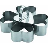 Набор кондитерских выемок «Сердце», 4 шт + 1 пресс, 8,5*8,5*5 см