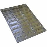 Противень 60х40см, для булочек (хот-дог), ячейка 160х60мм h13мм, алюминий