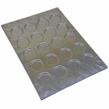 Противень 60х40см, для булочек (гамбургер), ячейка d100мм h13мм, алюминий с антипригарным покрытием