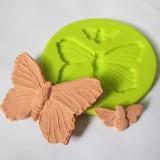 Силиконовая форма «Бабочка», d 4,7/2 см, h 0,5 см