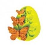 Силиконовая форма «Бабочки», 1,8/2/4,4 см, h 0,8 см