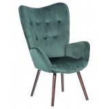 Кресло Гранд вельвет зеленый