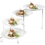 Подставка фуршетная «Regent» для четырех тарелок, раздвижная, 23 см