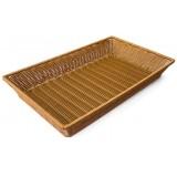Подставка для выкладки коричневая прямоугольная 52,5х32,5х6,5см