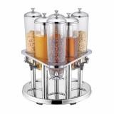 Диспенсер для сока и сухих продуктов, 6 колб по 3 л, 54*54*60 см