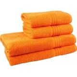 Полотенце махровое 40х70 см плотность 450 гр оранжевое