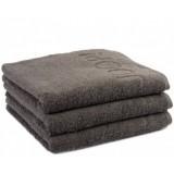 Полотенце махровое 40х70 см плотность 450 гр коричневое