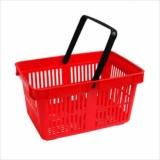 Корзина покупательская пластик SBP20/STE100PRD-BX (440х305х200мм,20л,2 черн.ручки, красн) не усилен