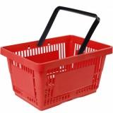 Корзина покупательская пластиковая SBP27-1H (485х330х240мм, 27л, красная)
